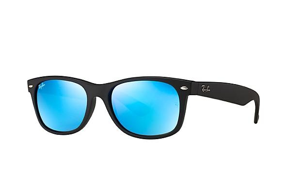 Ray ban new wayfarer rb2132 622 flash sunglasses free rx for Ray ban verre bleu miroir