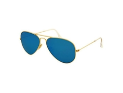 Ray Ban-Aviator Flash Lenses in arista gold RB3025-112