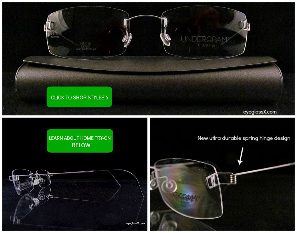 521749734a Rimless Glasses for Men   Women