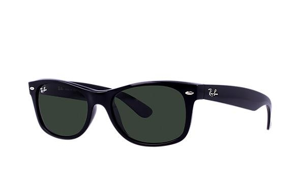 eb133b9489 Ray Ban New Wayfarer RB2132 Sunglasses in Black or Black Rubber ...