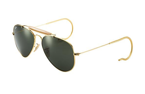 d11ff1cc4 Ray Ban RB3030 Outdoorsman Prescription Sunglasses in Gold, Black ...