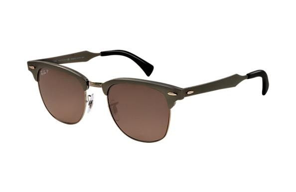 013e8190090db Ray Ban Clubmaster Aluminum RB3507 Polarized Sunglasses Gunmetal ...