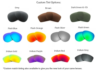 a1f9f20abb0 Sunglass Prescription Mirror Lenses For Oakley Sunglasses. Up to 70% Off.  Standard tints in various colors.