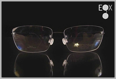 Rimless glasses-Undergram 389 in black
