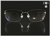 Rimless glasses-Undergram 389 in silver