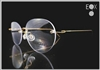Rimless glasses-Undergram 610 gold